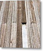 Wooden Panels Metal Print