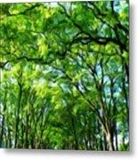 Nature Art Original Landscape Paintings Metal Print
