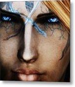 120941 The Elder Scrolls V Skyrim Wizard Blue Eyes Metal Print