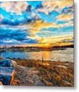 Oil Painting Landscape Pictures Nature Metal Print