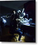 Light Painting Photography Metal Print