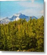 Landscape Paintings Canvas Prints Nature Art  Metal Print