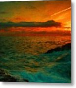 Nature Landscape Oil Painting For Sale Metal Print