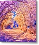 Nature Scenery Oil Paintings On Canvas Metal Print