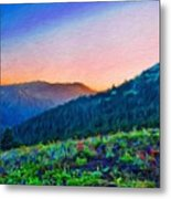 Nature Oil Canvas Landscape Metal Print