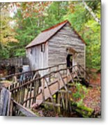 1267 Great Smoky Mountain Cable Mill Metal Print