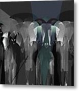 127 -  Nightwalkers Dark Metal Print by Irmgard Schoendorf Welch