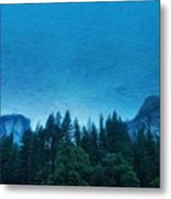 Nature Landscape Oil Painting On Canvas Metal Print