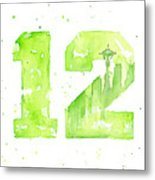 12th Man Seahawks Art Go Hawks Metal Print