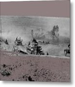 12th Panzer Division On The Move To Stalingrad August 1942 Color Added 2016 Metal Print