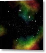 Abstract Stars Nebula Metal Print