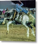 Bronco Riding Metal Print