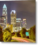 Downtown Of Charlotte  North Carolina Skyline Metal Print
