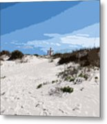 Jetty Park On Cape Canaveral In Florida Metal Print