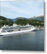 ketchikan alaska downtown of a northern USA town Metal Print