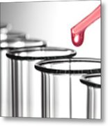 Laboratory Experiment In Science Research Lab Metal Print