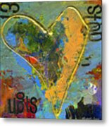 13 Of Hearts Stop Sign, Heartache Series. Metal Print