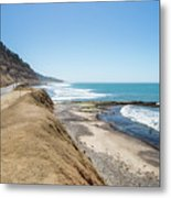 Pacific Ocean Big Sur Coatal Beaches And Landscapes Metal Print