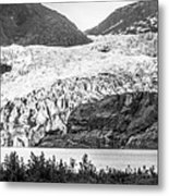 Panoramic View Of Mendenhall Glacier Juneau Alaska Metal Print