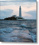 Saint Mary's Lighthouse At Whitley Bay Metal Print