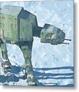 Star Wars On Poster Metal Print