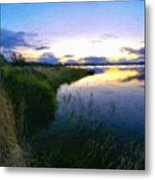 Nature Original Landscape Painting Metal Print