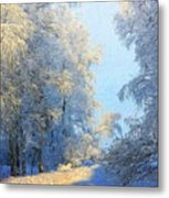 Nature Pictures Of Oil Paintings Landscape Metal Print