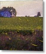 1300 - Fireflies Impression Version Metal Print