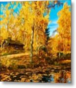 Oil Painting Landscape Pictures Nature Metal Print