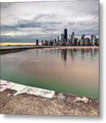 1323 A View From The Breakwall Metal Print