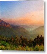 Nature Landscape Light Metal Print