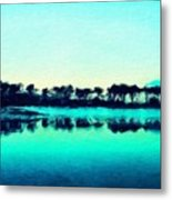 Landscape Paintings Nature Metal Print