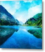 Nature Work Landscape Metal Print