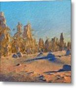 Landscape Painted Metal Print