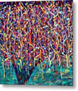 14-26 Green Forest Tree Metal Print