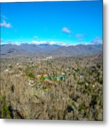 Aerial View On Mountains And Landscape Covered In Snow Metal Print