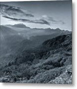 Chilly Winter Sunrise At Lunhgthang Sikkim West Bengal India Metal Print