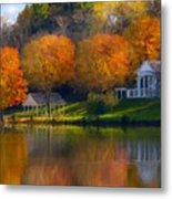 Framed Landscape Art Metal Print