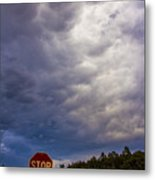 May Nebraska Storm Cells Metal Print