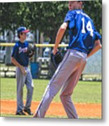 14 On The Mound Metal Print