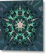 Peace All Over The World Metal Print