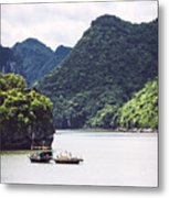 Picturesque Sea Landscape. Ha Long Bay, Vietnam Metal Print