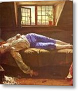 Wallis Henry The Death Of Chatterton Henry Wallis Metal Print