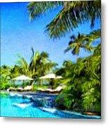 Nature Landscape Oil Painting For Sale Metal Print