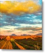 Landscape Drawing Nature Metal Print