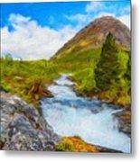 Nature Painted Landscape Metal Print