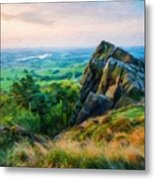 Nature Landscape Oil Metal Print