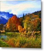 Nature Landscape Paintings Metal Print