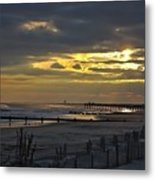 14th Street Fishing Pier Metal Print