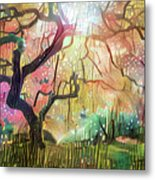 15 Abstract Japanese Maple Tree Metal Print